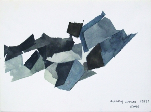EAVES Quarry Stone, 1985. Gouache