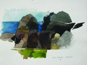 EAVES Rocks, Cornwall, 1989 Watercolour